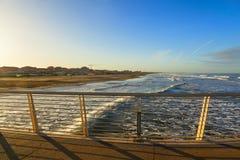 Lido di camaiore pier. View in versilia royalty free stock photography