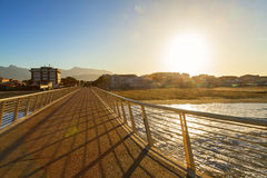 Lido di camaiore pier. View in versilia royalty free stock photo