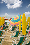 Lido di Jesolo. Photo of beach in resort Lido di Jesolo in Italy - Venice beach Stock Photography
