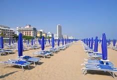 Lido di Jesolo Beach, l'Adriatico, Italia fotografia stock