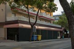 Lido di Jesolo hotel and restaurant, venetian Riviera Stock Photos