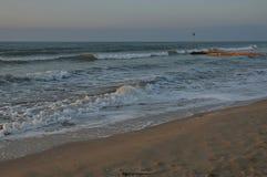 Lido di Jesolo, Italien, Sonnenaufgang am Strand Lizenzfreies Stockfoto