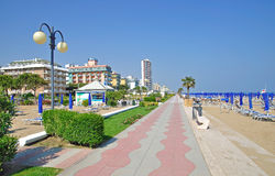 Lido di Jesolo,Italy. Seaside Resort of Lido di Jesolo on the adriatic Coast,,Italy Stock Photos
