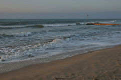 Lido di Jesolo, Italy, sunrise at beach Royalty Free Stock Photo