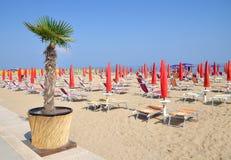 Lido di Jesolo, mar adriático, Italia Fotos de archivo