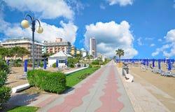 Lido di Jesolo, mar de adriático, Vêneto, Itália imagem de stock royalty free