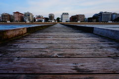 Lido di Jesolo view from Adriatic sea Royalty Free Stock Photography