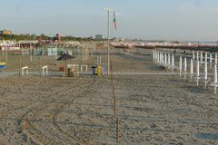 Lido di Spina. Italian blu flag beach Stock Image