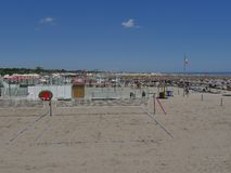 Lido di Spina. Italian blu flag beach Royalty Free Stock Images