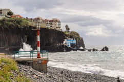 Lido Funchal Madeira tide Royalty Free Stock Photography