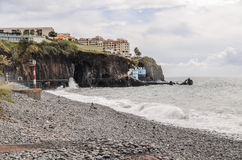 Lido Funchal Madeira tide Royalty Free Stock Photos