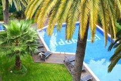 Lido-Hotel-Swimmingpool Lizenzfreies Stockbild