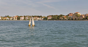 Lido island cityscape. Venice, Italy. Stock Images