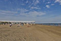 Lido long sandy beach, Italy Stock Image