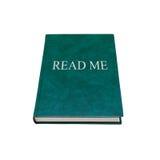 Lido me Livro manual com a tampa verde isolada fotos de stock royalty free