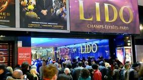 LIDO-Nachtclub auf Allee Champs-Elysees in Paris, Frankreich, stock footage