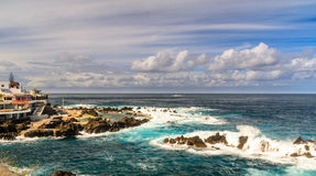 Porto Moniz Lido,. The lido and outlying rocks on Madeira in the atlantic ocean Stock Photo
