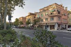 Lido Santa Maria Elisabetta street, Italy. Royalty Free Stock Images