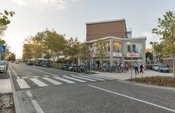 Lido Santa Maria Elisabetta street, Italy. Royalty Free Stock Photography