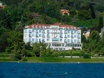 Lido slotthotell, Baveno Royaltyfria Bilder