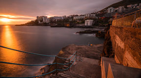 Lido Sunset. Sunset shot from The Lido, Funchal, Madeira Royalty Free Stock Image