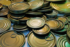 Lids of can Royalty Free Stock Images