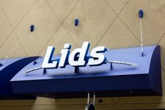 Lids hat store sign stock images