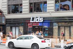 Lids store front in New York stock photos