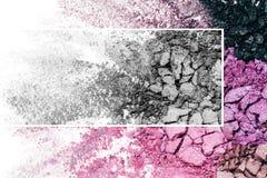 Lidschattenbeschaffenheits-, Purpurrote und ultraviolettefarben Lizenzfreies Stockbild