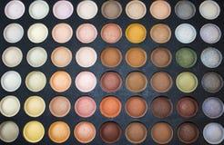 Lidschattenmehrfarbenpalette Stockfotos