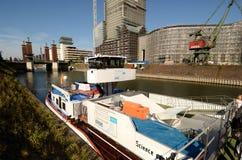 Lidstaten Wissenschaft van de reis der - tentoonstellingsschip in Duisburg Royalty-vrije Stock Afbeeldingen