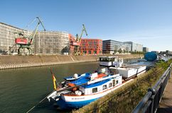 Lidstaten Wissenschaft van de reis der - tentoonstellingsschip in Duisburg Stock Foto