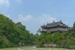 Lidui architecture scenery at dujiangyan Stock Photo