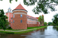 Lidzbark Warminski castle with moat Royalty Free Stock Photos