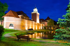 Lidzbark Warminski castle at night Royalty Free Stock Image