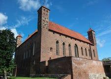Old medieval castle in Lidzbark Warminski Castle. A medieval castle of the Warmian Bishops in Lidzbark Warminski (Heilsberg; Lēcbargs), fortified by Copernicus Stock Photography