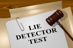 Lie Detector Test concept Stock Photo
