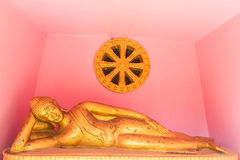 Lie down buddha statue Royalty Free Stock Images