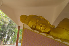Lie down buddha in the temple Stock Photo