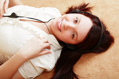 Lie girl Royalty Free Stock Images