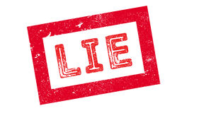 Lie rubber stamp. On white. Print, impress overprint Royalty Free Stock Photography