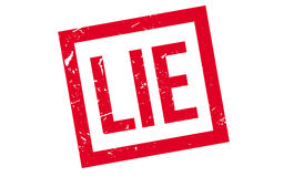 Lie rubber stamp. On white. Print, impress overprint Royalty Free Stock Photo