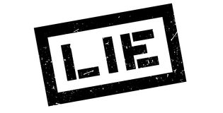 Lie rubber stamp. On white. Print, impress overprint Royalty Free Stock Images
