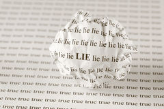 Lie or true Royalty Free Stock Image
