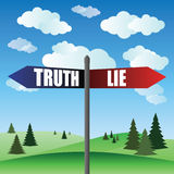 Lie and true sign Royalty Free Stock Image
