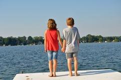Liebe auf dem Dock Stockbild