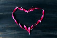 Liebe auf dem Ebenholz Lizenzfreies Stockbild