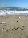 Liebe auf dem Strand Lizenzfreie Stockbilder
