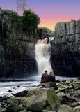 Liebe auf den Felsen Stockfoto