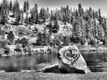 Liebe auf den Felsen Lizenzfreie Stockfotos